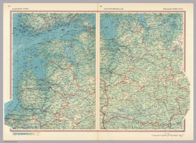 U.S.S.R. - Baltic States. U.S.S.R. - Byelorussian S.S.R. Pergamon World Atlas.