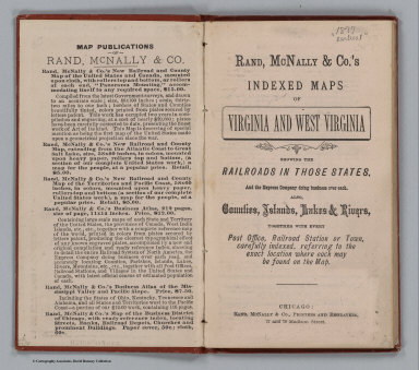 Title Page: Indexed Maps Of Virginia And West Virginia