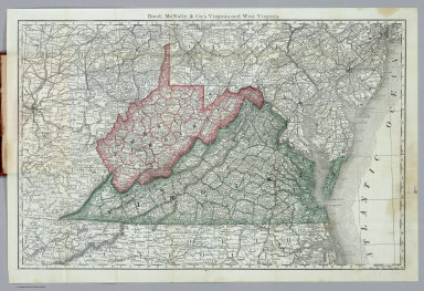 Indexed Maps Of Virginia And West Virginia