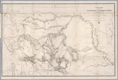 Map of the Yellowstone and Missouri Rivers and their tributaries