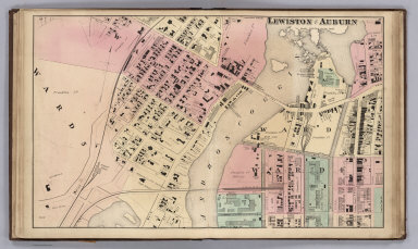 Lewiston and Auburn, Androscoggin County, Maine.