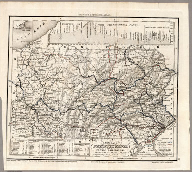 A new map of Pennsylvania with its canals, roads and distances