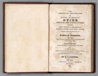 Title Page: American Traveller or Emigrants' Guide through the United States
