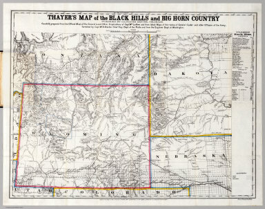 Map of the Black Hills & Big Horn Country