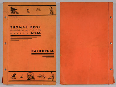 Covers: Thomas Bros. Recreational and Statistical Atlas, California.