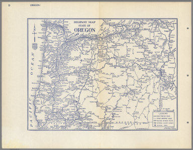Highway Map of the State of Oregon.
