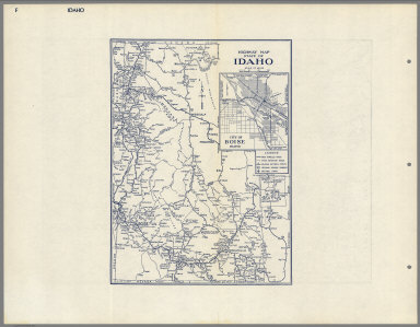 Highway Map State of Idaho.