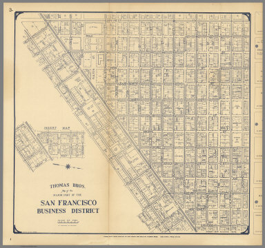 Thomas Bros. Map of the Major Part of the San Francisco Business District.