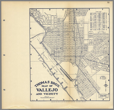 Thomas Bros.' Map of Vallejo and Vicinity, California.