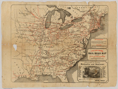 Railroad Map Of The United States and Canadas