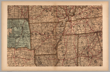 (Map 6 - Indian Territory, Arkansas, Mississippi, Alabama, Tennessee).