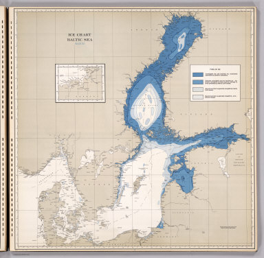 Ice Chart, Baltic Sea, March.