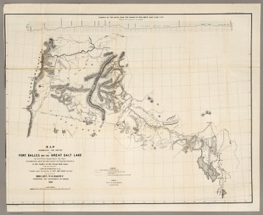 The Routes between Fort Dalles And The Great Salt Lake