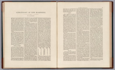 Text Page: Climatology of New Hampshire by J.B. Huntington. (New Hampshire).