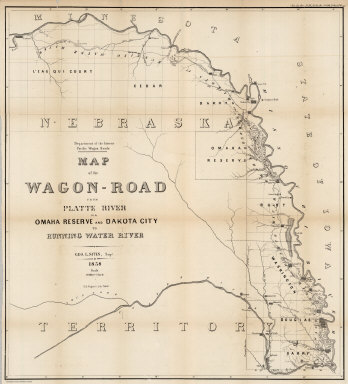 Six Maps Show Various Wagon Roads Developed By The U S Government In The Late 1850 S A Map Of The Route From Fort