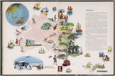 Pictorial map of Australasia