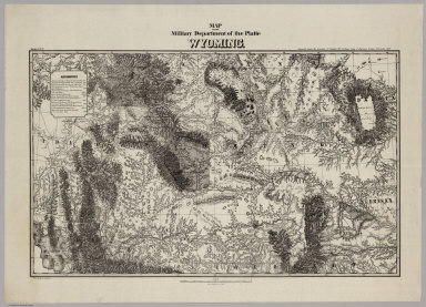 Map Of The Military Department of the Platte. Wyoming