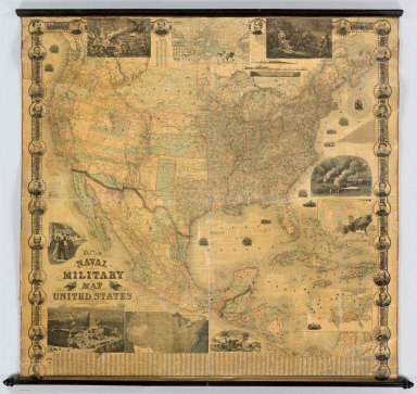 Naval And Military Map Of The United States.