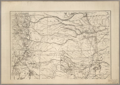 Map of the States of Kansas and Texas and Indian Territory