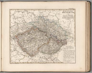 Browse All Atlas Map Of Germany And Slovakia From 1850 David
