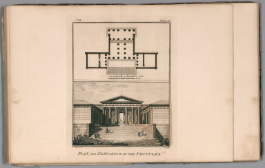 Plan and elevation of the Propylaea. No. 13