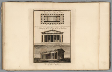 Plan of the Temple of Theseus (with) Parthenon. No. 14