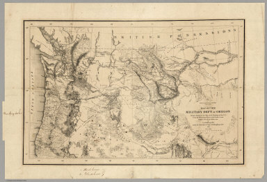 Map Of The Military Department Of Oregon