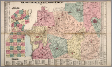 Oil Belt of Clarion County, Pennsylvania. Venango County and Butler County