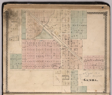 Genoa Ohio Map.Browse All Images Of Genoa 28ohio 29 David Rumsey Historical