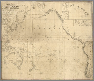 Composite: A New Chart of The Pacific Ocean (Northern and southern Sheets)