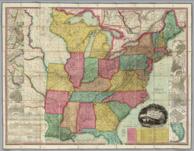 Browse All Images By Allen W David Rumsey Historical Map - 1829 us map