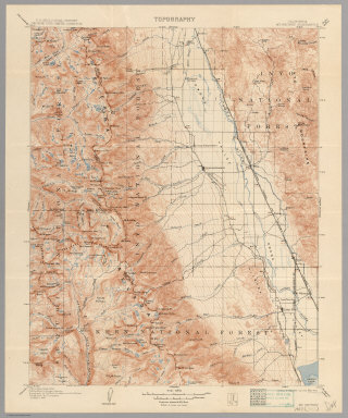 34 Historic Topographic Maps Of The Sierra Nevada By The United States Geological Survey 1891 1951 Usgs U S Geological Survey Washington D C