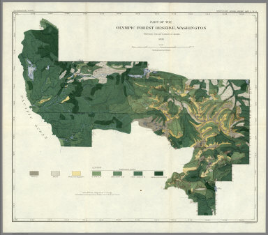 Plate LI. Land Classification in Olympic Forest Reserve, Washington, Forest Yield.