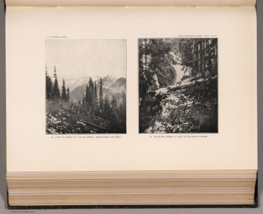 View: Plate LII. View of Head of Lillian Creek. Falls on Creek at Head of Soleduck River.
