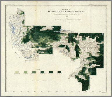 Plate LIII. Land Classification in Olympic Forest Reserve, Washington, Showing Red Fir Percentage.