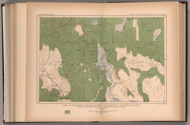 Plate LXXXIV. Part of Southern Oregon Showing Distribution of Lodgepole Pine.