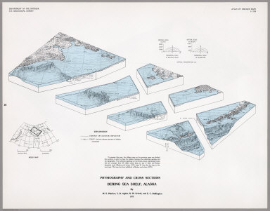 Physiography and Cross Sections Bering Sea Shelf, Alaska.