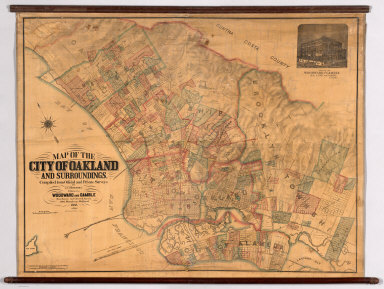 Map of the City of Oakland and Surroundings.