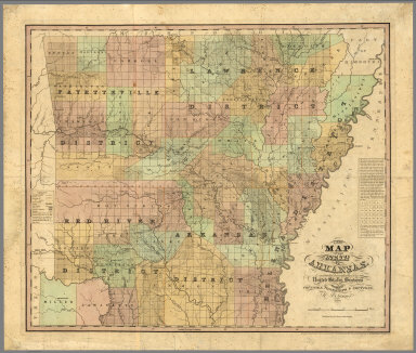 A new map of the state of Arkansas... 1839
