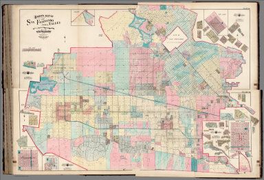 Composite: Baist's Map of the San Fernando Valley, Plates 46, 47, 48, 49.