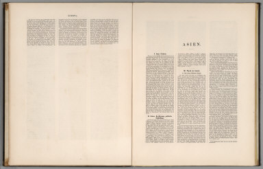 Text: Europa. VII (conclusion). Asien. I-III.