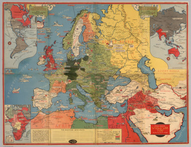 Dated events, World War map, by Stanley Turner