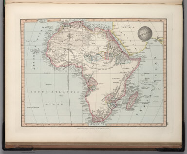 Map Of Africa 1850.Browse All Atlas Map Of Africa From 1850 And 1845 David Rumsey