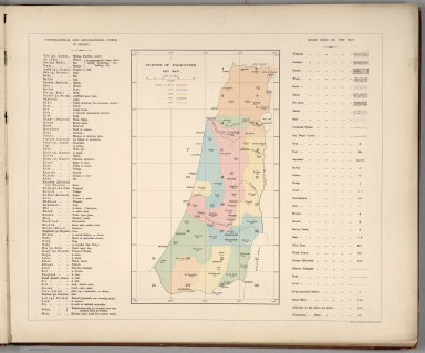 Index Map: Topographical and Geographical Terms in Arabic (and English). Key Map; Signs Used on the Map.