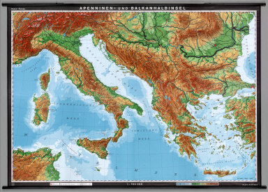 Browse All : Wall Map and Physical of Italy - David Rumsey ... on physical map ancient italy, world map of italy and greece, climate of italy and greece,