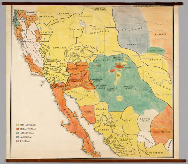 Southwestern United States & Northern Mexico -- Linguistic Stocks