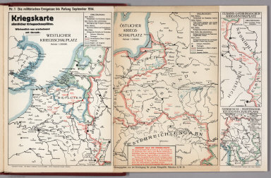 World War I Map (German), Nr. 1. Military Events ... to September 1914.