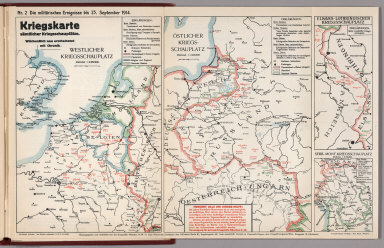 World War I Map (German), Nr. 2. Military Events ... to September 23, 1914.