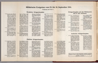 Text: Report Nr. 2 on World War I, Military Events of the Week ... to September 30, 1914.