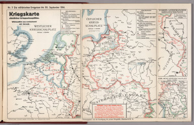 World War I Map (German), Nr. 3. Military Events ... to September 30, 1914.